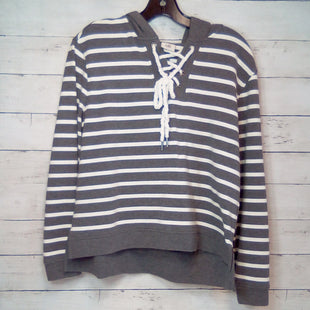 Primary Photo - BRAND: CABI STYLE: TOP LONG SLEEVE COLOR: STRIPED SIZE: S OTHER INFO: GREY/WHITE   W/HOOD SKU: 216-21612-85172