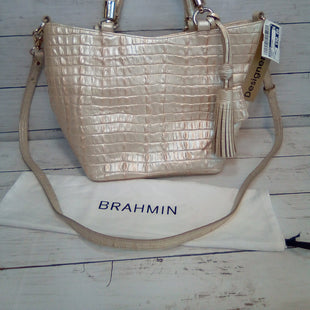 Primary Photo - BRAND: BRAHMIN STYLE: HANDBAG DESIGNER COLOR: CREAM SIZE: SMALL OTHER INFO: SATCHEL/CROSSBODY SKU: 216-21612-84826