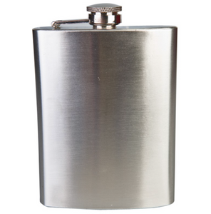 Plain Stainless Steel Hip Flask Set