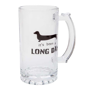 It's Been a Long Day Dachshund Glass Stein