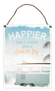 Kelly Lane Wanderlust Hanging Tin Sign 30 x 40cm
