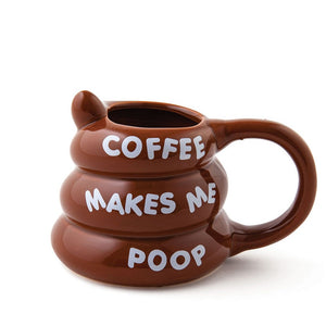 Coffee Mug 'Coffee Makes Me Poop'