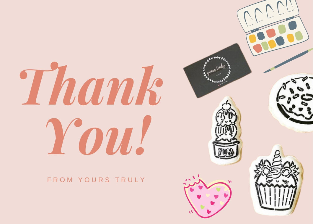 Yours Truly Cookies Gift Card