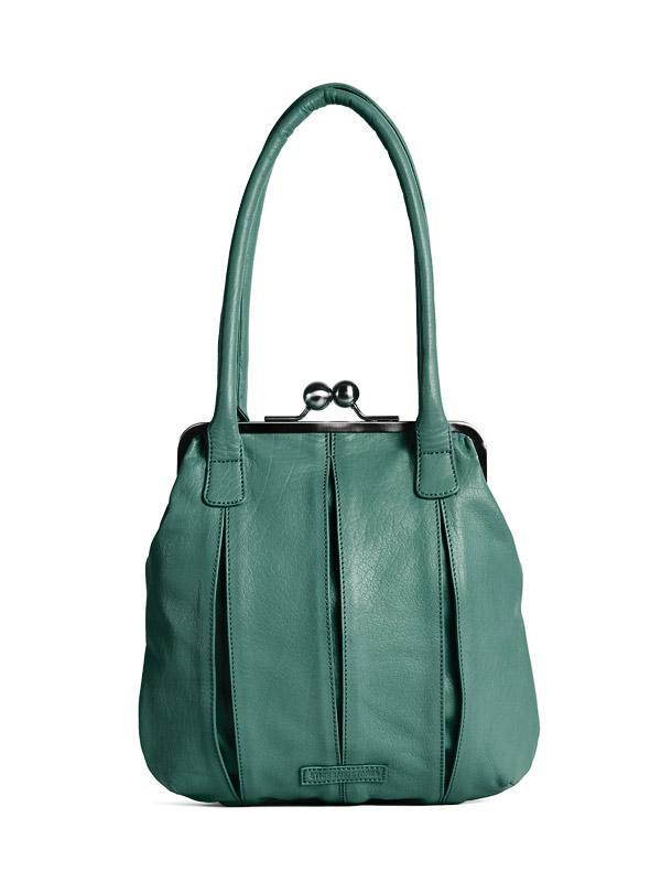 Sticks and Stones - Lederhandtasche Annecy - Green Spruce