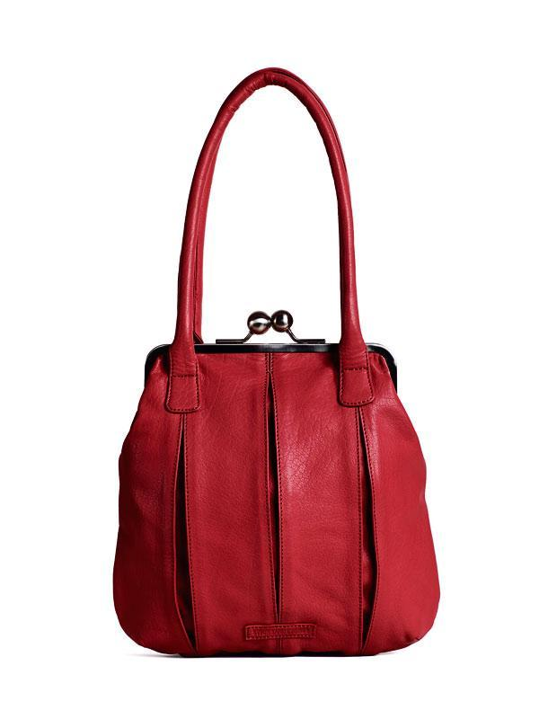 Sticks and Stones - Lederhandtasche Annecy - Red