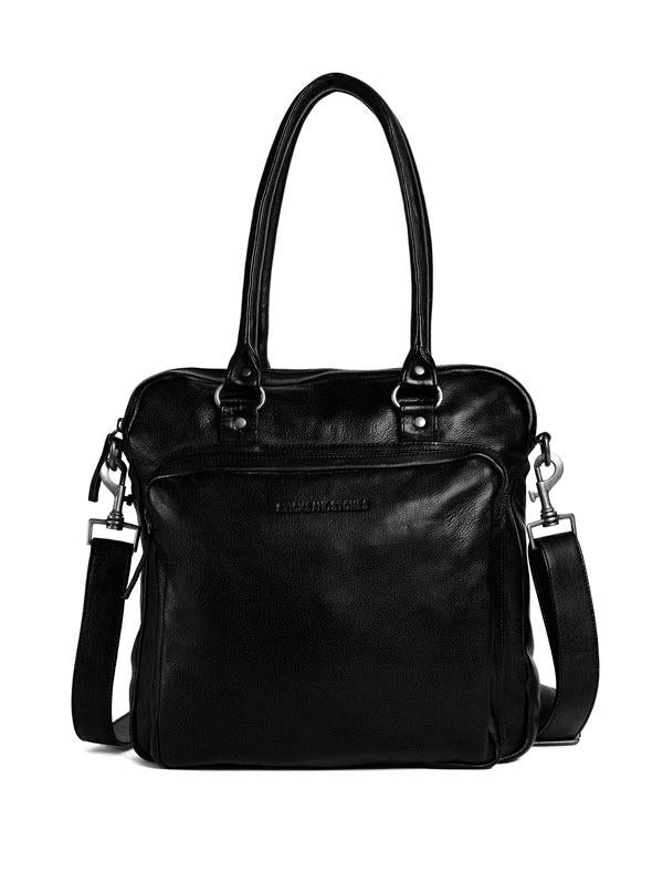 Sticks and Stones - Lederhandtasche Antigua - Black