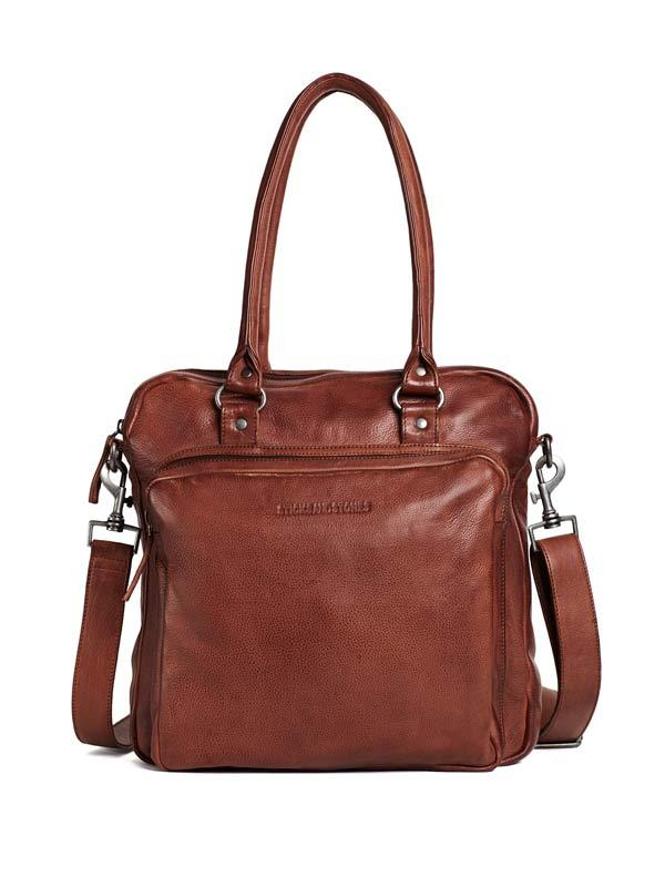 Sticks and Stones - Lederhandtasche Antigua - Mustang Brown