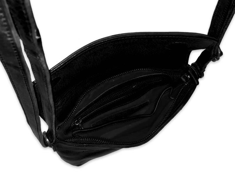 Sticks and Stones - Ledertasche Athens - Black
