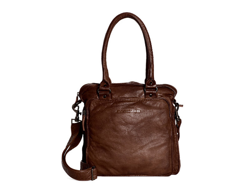 Sticks and Stones - Ledertasche Belize Bag - Cognac Vorderansicht