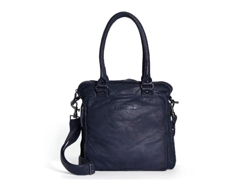 Sticks and Stones - Ledertasche Belize - Midnight Blue