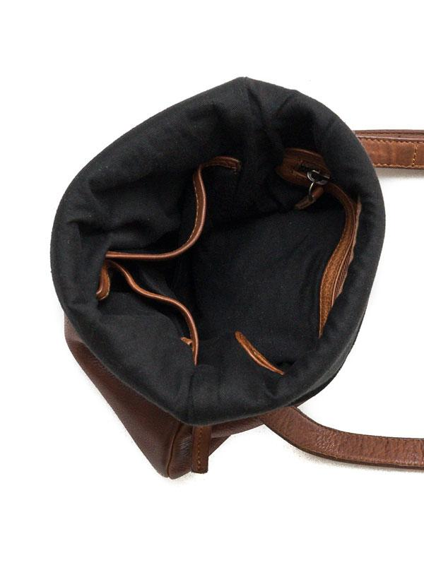 Sticks and Stones - Ledertasche Bondi - Cognac Innenansicht