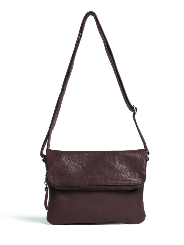 Sticks and Stones - Ledertasche Bondi - Burgundy