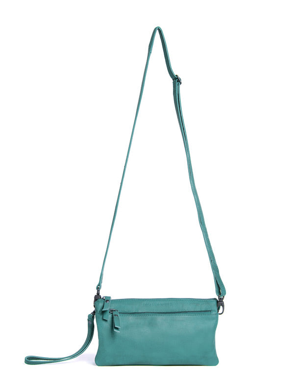 Sticks and Stones - Ledertasche Bonito Bag - Aquamarine