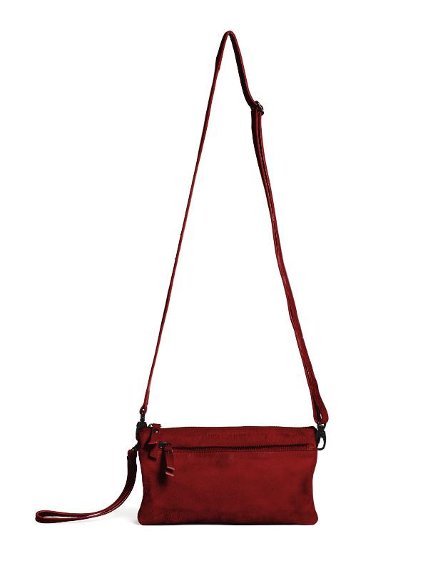 Sticks and Stones - Ledertasche Bonito - Cherry Red