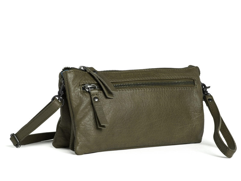 Sticks and Stones - Ledertasche Bonito - Ivy Green Detailansicht