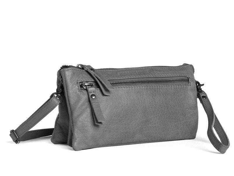 Sticks and Stones - Ledertasche Bonito - Light Grey