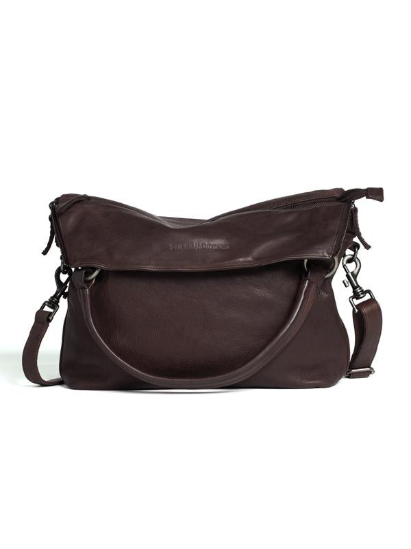 Sticks and Stones - Ledertasche Brisbane - Burgundy umgeklappte Variante