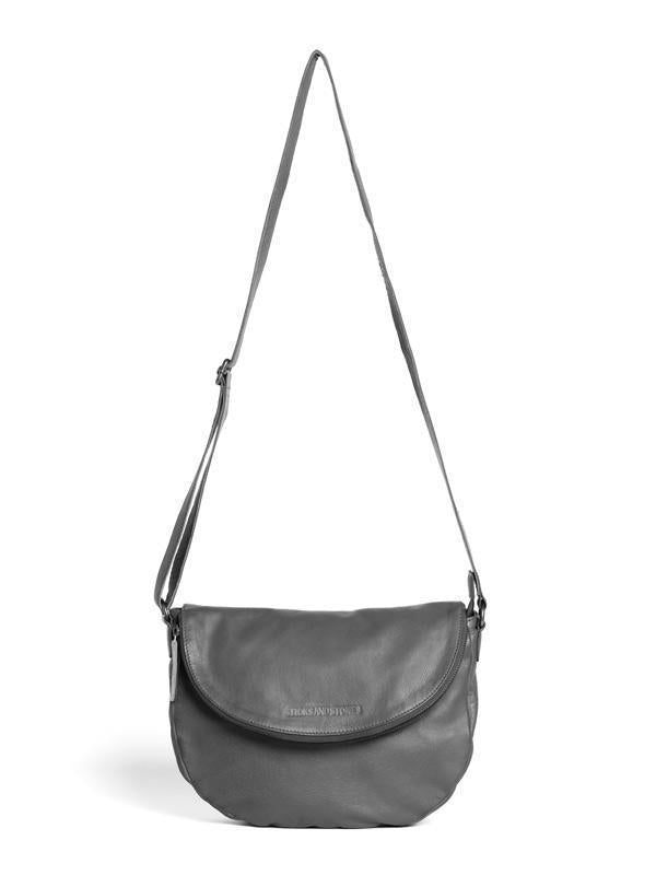 Sticks and Stones - Ledertasche Brixton - Light Grey
