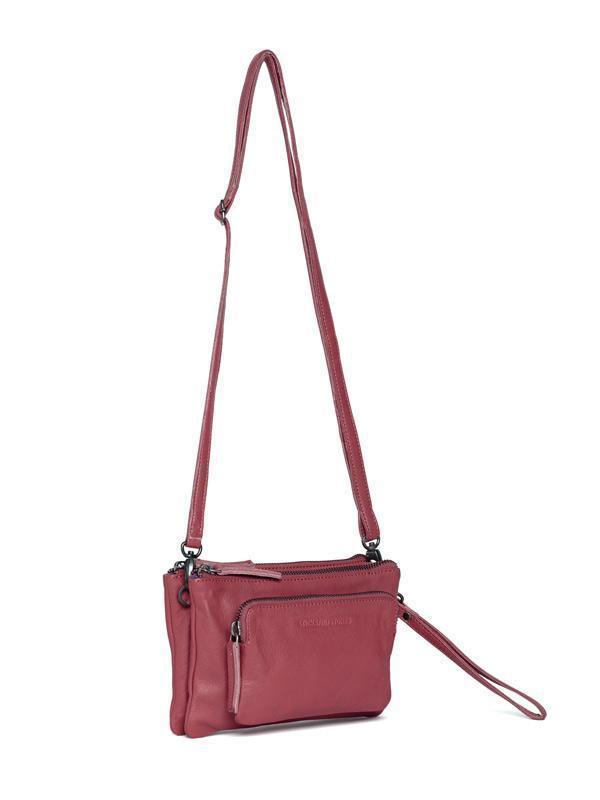Sticks and Stones - Ledertasche Bronte - Ruby Red - Seitenansicht