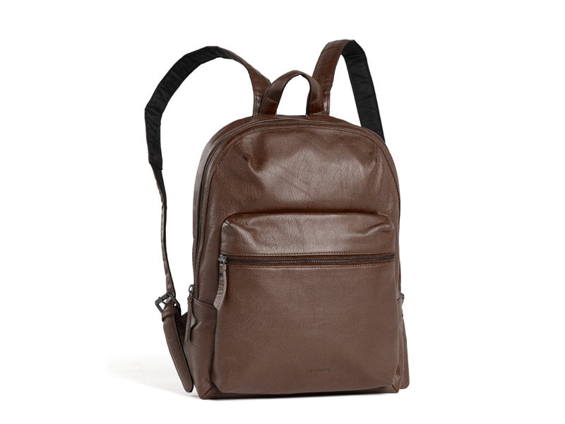 Sticks and Stones - Lederrucksack Brooklyn - Mocca
