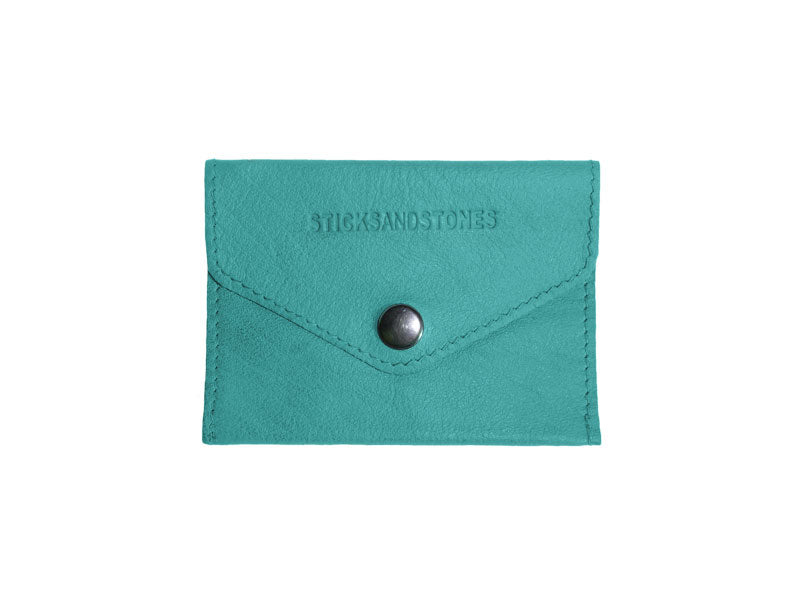 Sticks and Stones - Visitenkartenetui Busta Card Wallet - Aquamarine