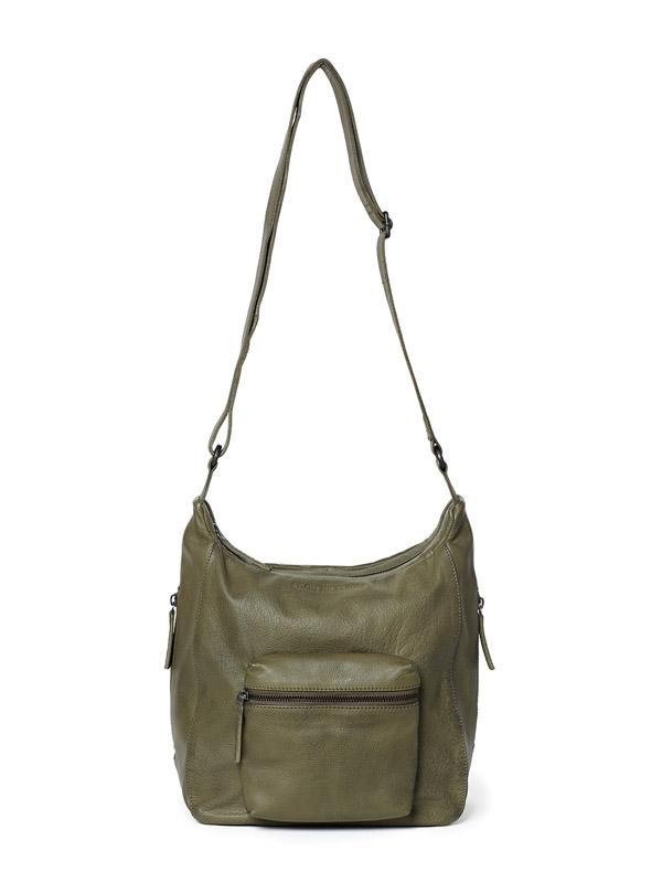 Sticks and Stones - Ledertasche Calgary - Ivy Green