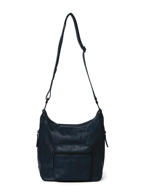 Sticks and Stones - Ledertasche Calgary - Marine Blue
