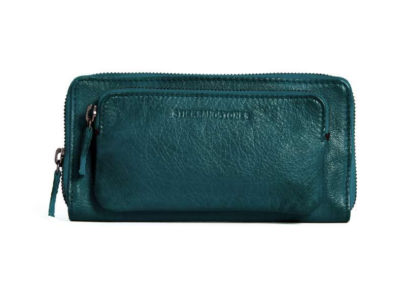 Sticks and Stones - Lederbörse California Wallet - Dusty Petrol