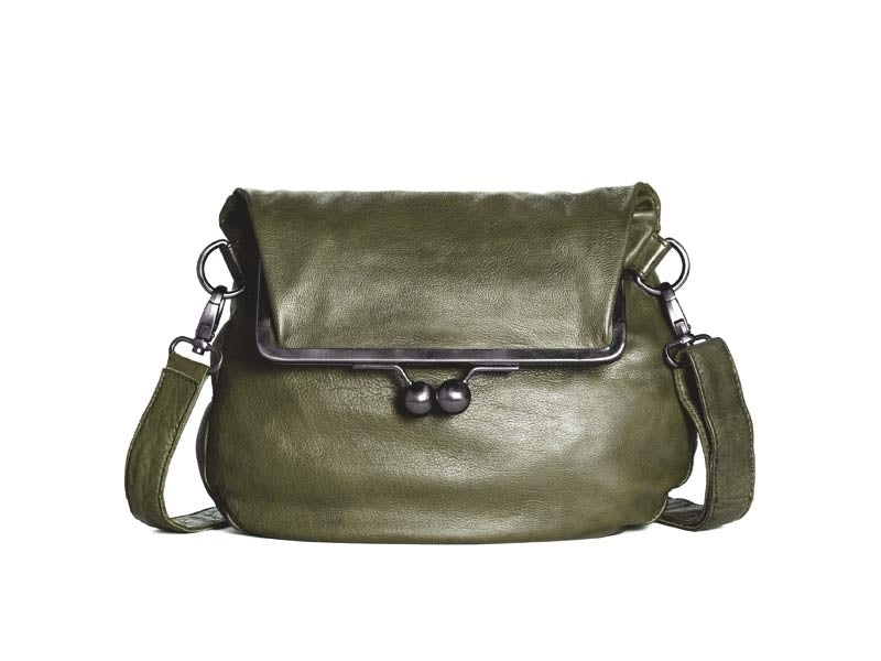 Sticks and Stones - Ledertasche Cannes - Ivy Green