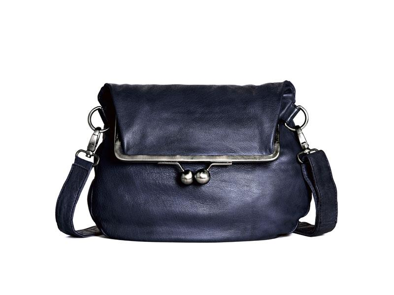 Sticks and Stones - Ledertasche Cannes - Midnight Blue