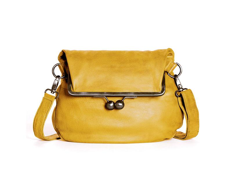 Sticks and Stones - Ledertasche - Cannes Bag - Yellow