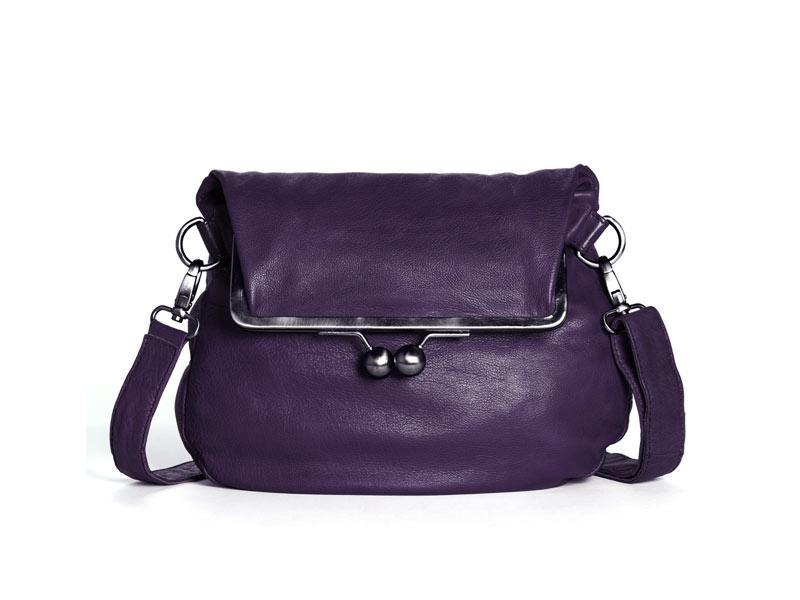 Sticks and Stones - Clipverschlusstasche Cannes Bag - Deep Purple