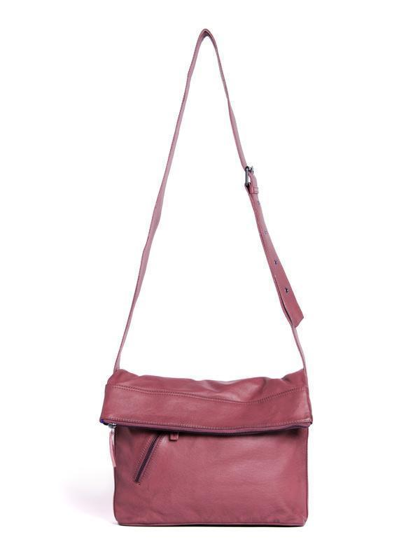 Sticks and Stones - Ledertasche City - Ruby Red