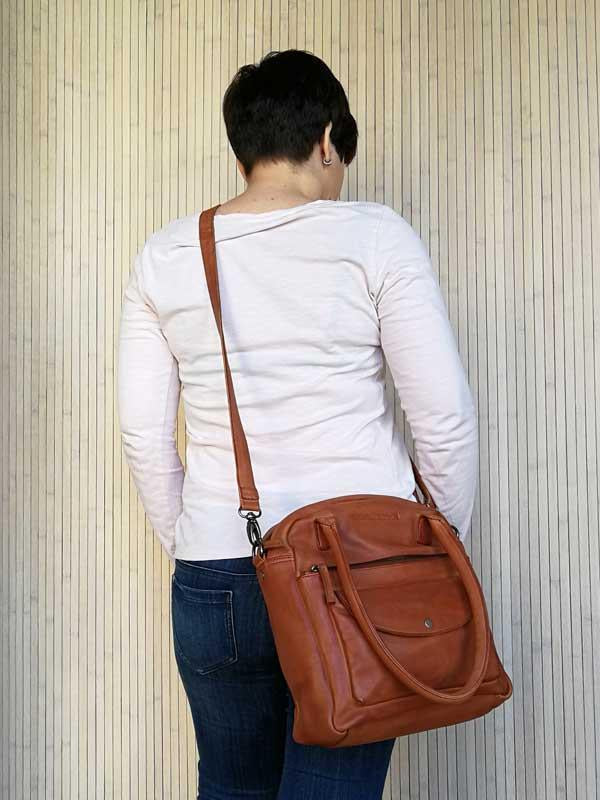 Sticks and Stones - Lederhandtasche Colorado Bag - Cognac