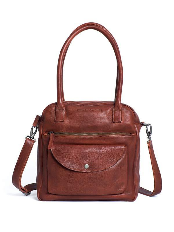Sticks and Stones - Lederhandtasche Colorado Bag - Mustang Brown