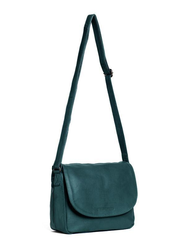Sticks and Stones - Ledertasche Columbia Bag - Dusty Petrol