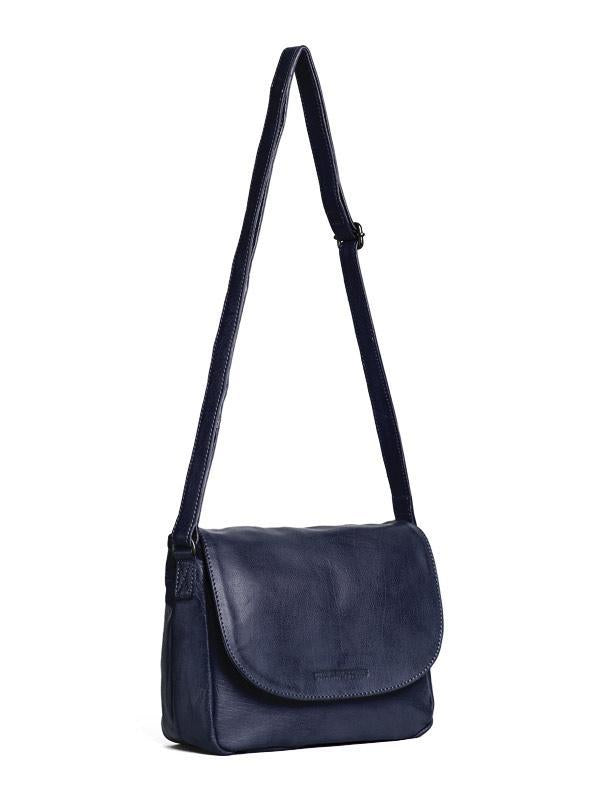 Sticks and Stones - Ledertasche Columbia - Midnight Blue