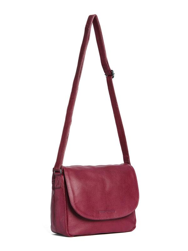 Sticks and Stones - Ledertasche Columbia Bag - Mulberry Red