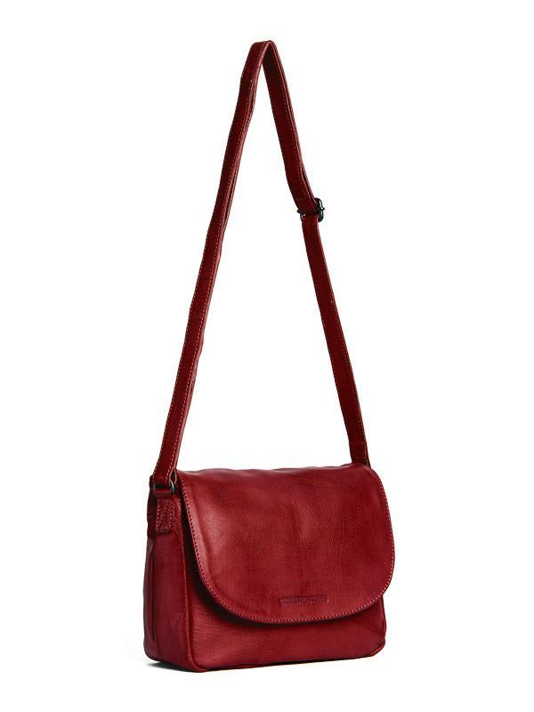Sticks and Stones - Ledertasche Columbia - Red