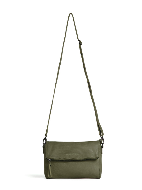 Sticks and Stones - Ledertasche Copacabana - Ivy Green