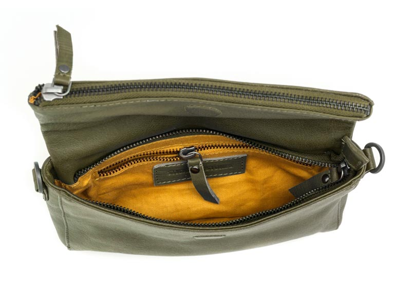Sticks and Stones - Ledertasche Copacabana - Ivy Green Innenansicht