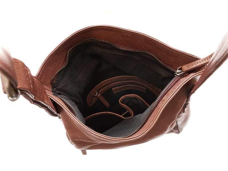 Sticks and Stones - Ledertasche Costa - Mustang Brown Innenansicht