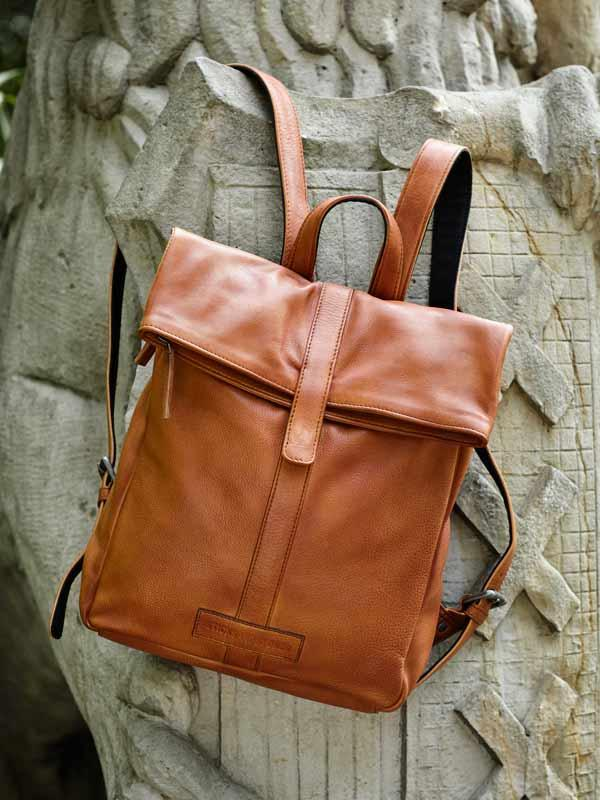 Sticks and Stones - Kurierrucksack - Cognac