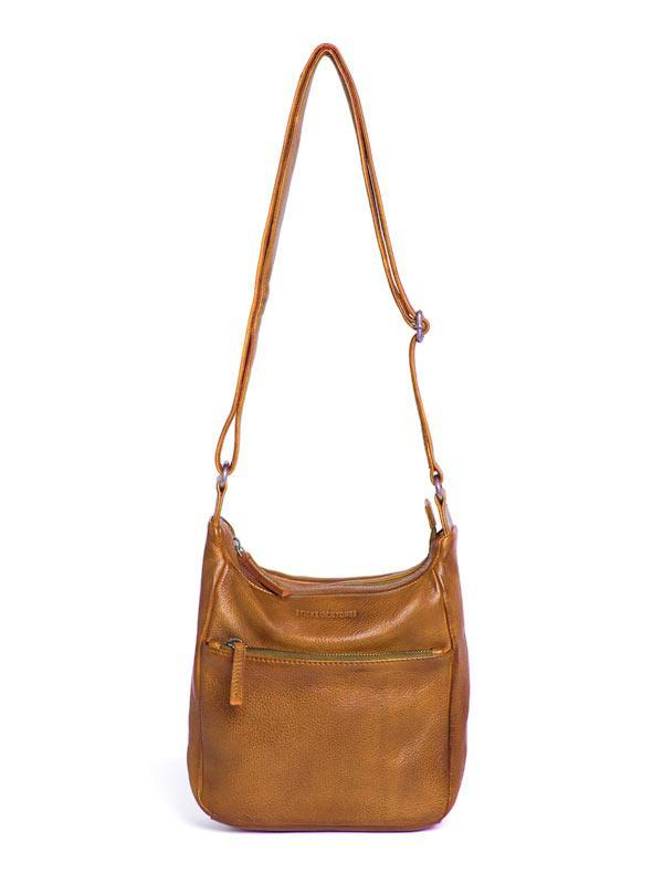 Sticks and Stones - Ledertasche Denia Bag - Yellow Ocher