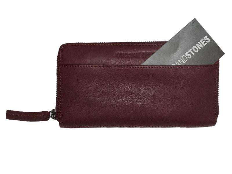 Sticks and Stones - Lederbörse Denver Wallet - Burgundy Einsteckfach