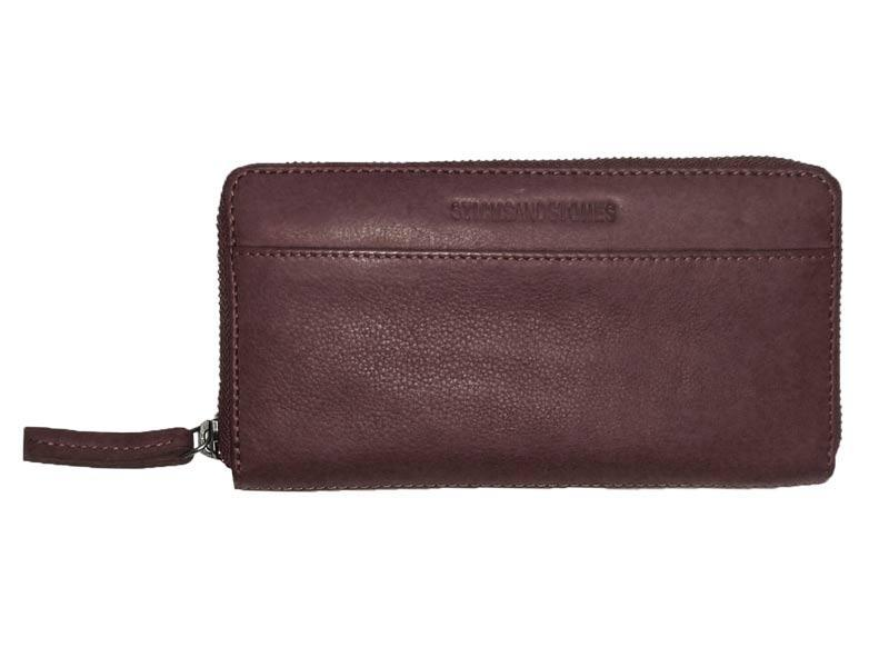 Sticks and Stones - Lederbörse Denver Wallet - Burgundy