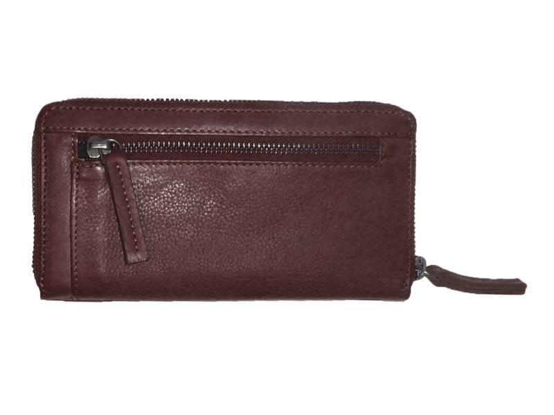 Sticks and Stones - Lederbörse Denver Wallet - Burgundy Rückseite