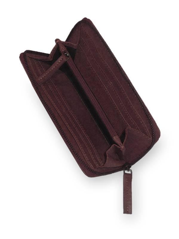 Sticks and Stones - Lederbörse Denver Wallet - Burgundy Innenansicht