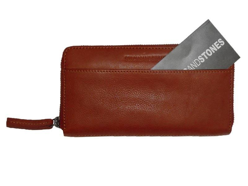 Sticks and Stones - Lederbörse Denver Wallet - Mustang Brown Einsteckfach