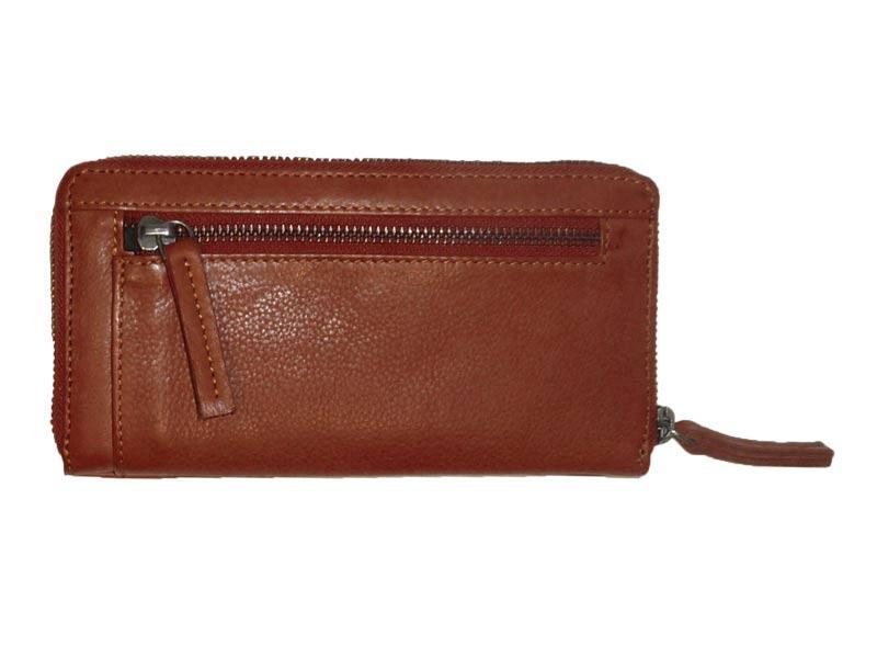 Sticks and Stones - Lederbörse Denver Wallet - Mustang Brown Rückseite